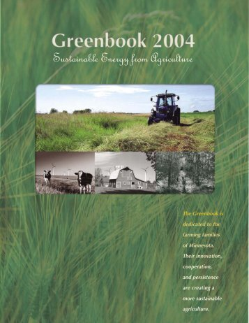 Sustainable Energy from Agriculture - Minnesota State Legislature