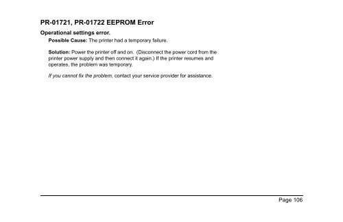PR-01720 Ribbon Error The