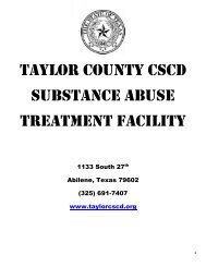 taylor county cscd substance abuse treatment facility