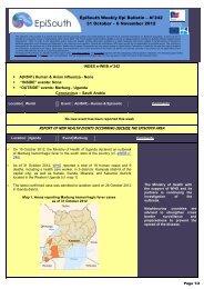 EpiSouth Weekly Epi Bulletin – N°242 31 October – 6 November 2012