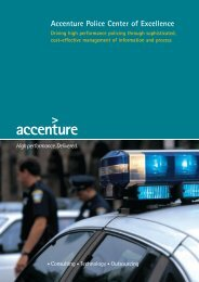 Accenture Police Center of Excellence