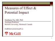 Measures of Effect & Potential Impact - Teach EPI