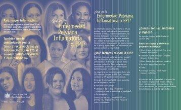 ¿Qué factores causan la EPI? - New York State Department of Health
