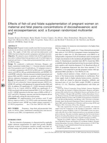 Effects of fish-oil and folate supplementation - American Journal of ...