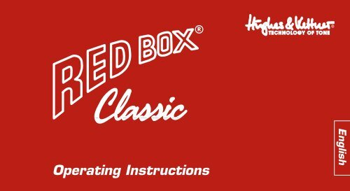 Hughes and Kettner Red Box Classic Manual - American Musical ...