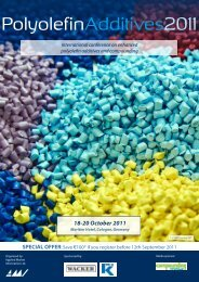 Polyolefin Additives 2011 ConfeRenCe infoRMAtion