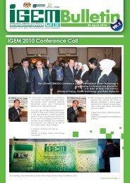 IGEM 2010 Conference Call