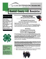 Randall County 4-H Newsletter
