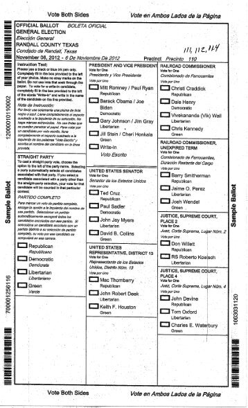 Sample Ballot Composite. - Latah County