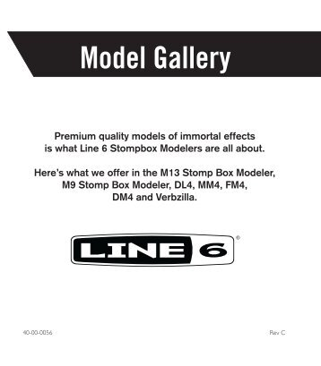 Line 6 Stompbox Model Gallery - Revision C
