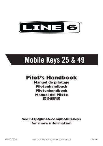 Mobile Keys 25 & 49 Pilot's Handbook - Revision A - Thomann