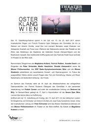 Pressemappe OSTERKLANG 2011 - Theater an der Wien
