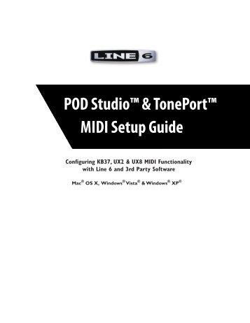 Line 6 PODStudio & TonePort MIDI Setup Guide (Rev 2 ... - Thomann