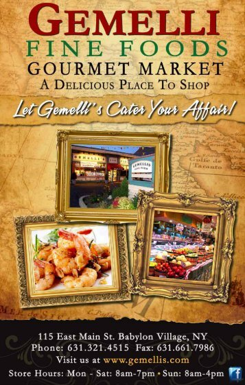 additional gemelli specialties (1/2 trays only) - Gemelli's Fine Foods