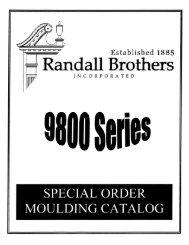 special order moulding catalog december 1999 edition 9800 series