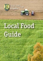 Local Food Guide (pdf) - Harper Adams University College