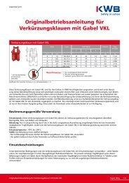 Verkürzungsklaue mit Gabel VKL downloaden, bitte hier klicken - KWB