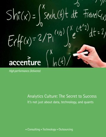 Analytics Culture: The Secret to Success