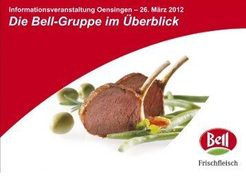 Präsentation Oensingen - 26. März 2012 - Bell AG