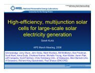 High-efficiency, multijunction solar cells for large-scale solar ...