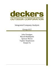 Integrated Company Analysis Group A12 - Business Library