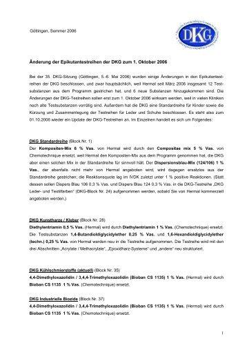 Änderung der Epikutantestreihen der DKG zum 1. Oktober ... - GWDG