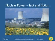 Nuclear Power – fact and ficQon - BENE - Better Environment with ...