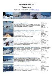 bene-tours Bergsteigen mit Innenansichten