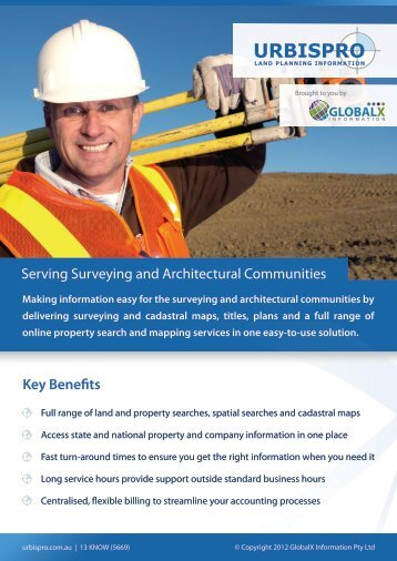 Serving Surveying and Architectural Communities Key Bene ts