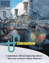 Solar Thermal Pamphlet PRINT 2010 - Thermoflow