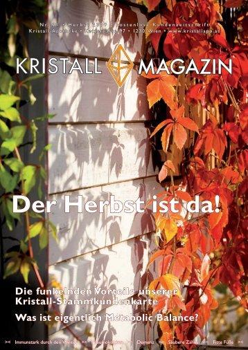 Der Herbst ist da! - Kristall-Apotheke