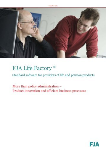 FJA Life Factory ® (Policy Administration System) - Product Folder