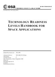 Technology Readiness Levels Handbook for Space Applications