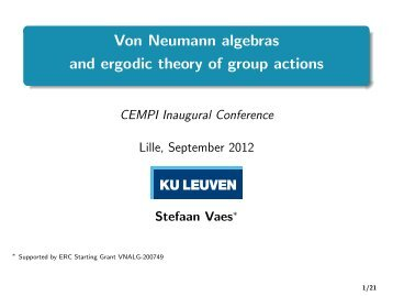 Von Neumann algebras and ergodic theory of group actions