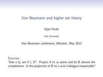 Von Neumann and higher set theory