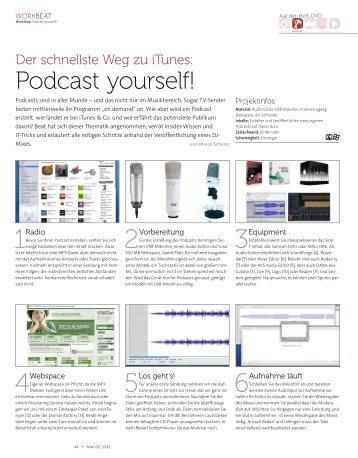 Podcast yourself - BEAT 09/2011 - marcoscherer.de