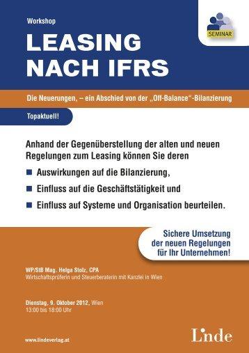 LEASING NACH IFRS - Linde Verlag