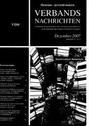 Verbandsnachrichten des Verbands der Deutschen Wirtschaft in