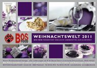 WEIHNACHTSWELT 2011 - BOS FOOD GmbH