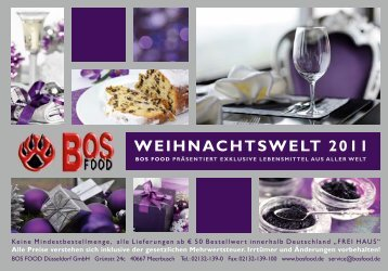 WEIHNACHTSWELT 2011 - BOS FOOD GmbH
