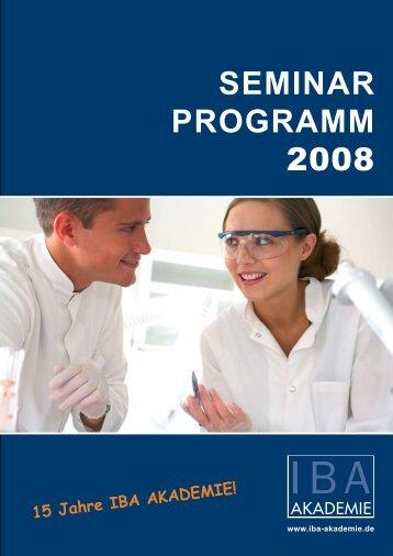 SEMINAR PROGRAMM 2008 - Greiner Bio One