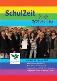 SchulZeit 30 – Januar 2008 - IGS List Hannover