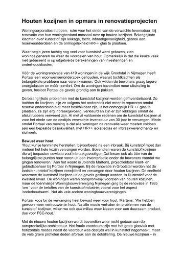 Houten kozijnen in opmars in renovatieprojecten - Helwig