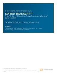 Q2 2012 - Quarterly results conference call transcript (PDF - Philips