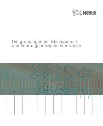 Die grundlegenden Management- und Führungsprinzipien von Nestlé