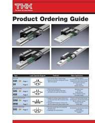 THK Product Ordering Guide - TKK Corporation