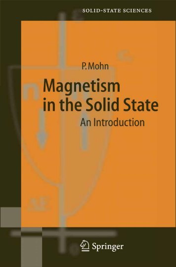 Magnetism in the Solid State - Jordan University of Science and ...