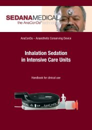 Inhalation Sedation in Intensive Care Units - Sedana Medical