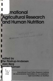 rnational Agricultural Research and Human Nutrition - International ...