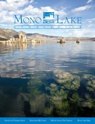 2012 Summer Mono Lake Newsletter - Mono Lake Committee